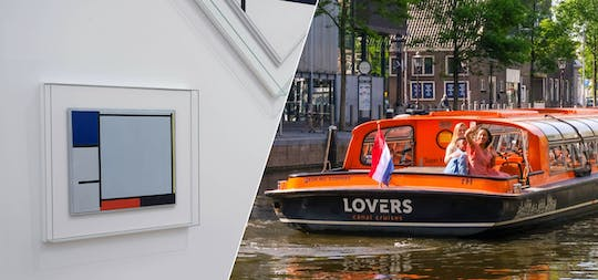 Stedelijk Museum and 1-hour Amsterdam canal cruise