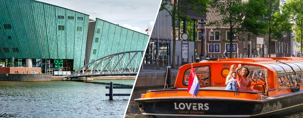 NEMO Science Museum and 1-hour Amsterdam canal cruise