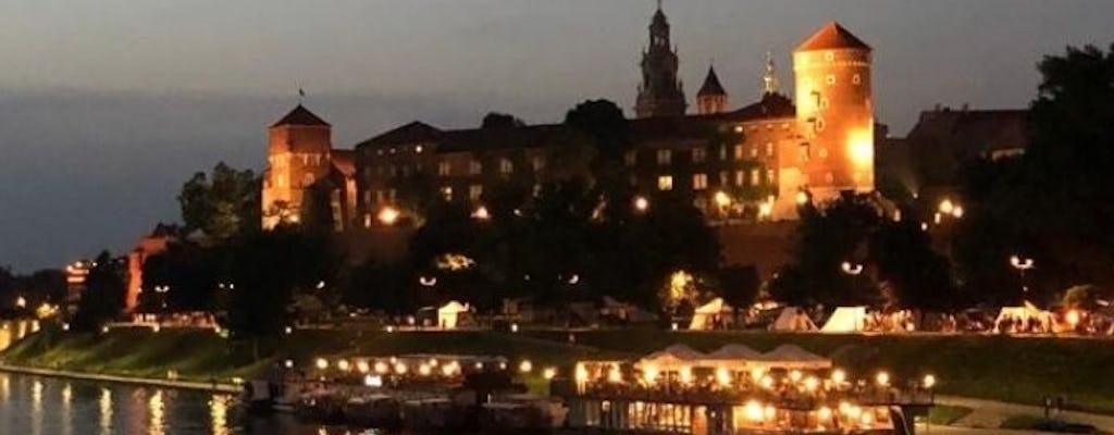 Night cruise on the Vistula in Krakow
