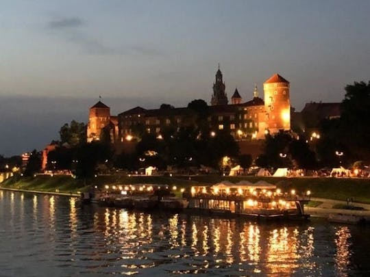 Night cruise on the Vistula in Krakow