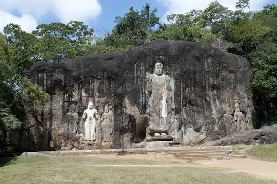 Safári no Parque Nacional de Yala e excursão ao templo rochoso de Buduruwagala saindo de Ella