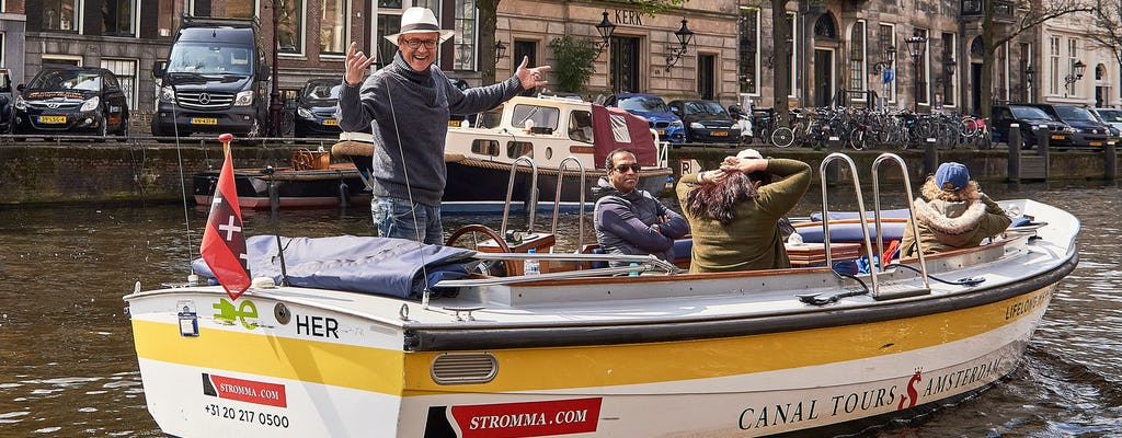 Amsterdam open boat tour from Central Station