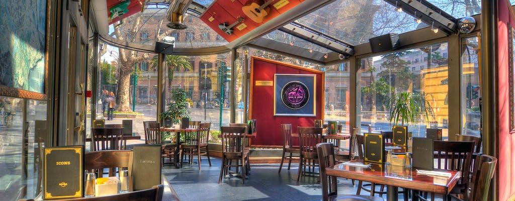 Хард рок кафе Рим: приоритет гостиная с меню