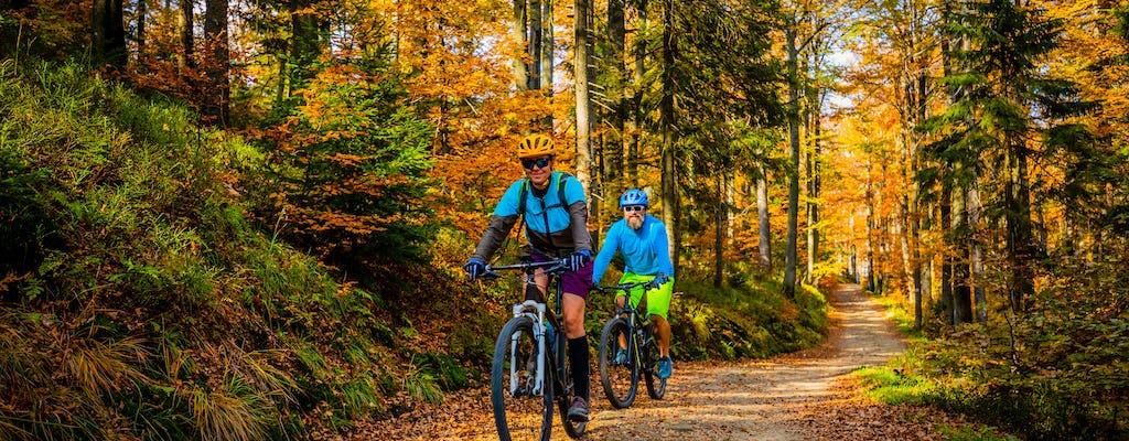 Passeio de bicicleta na trilha de MTB de Ljubljana