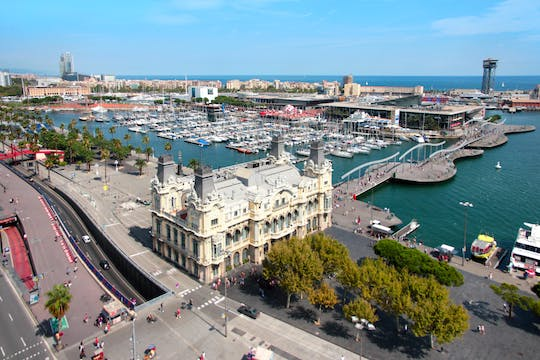 Best of Barcelona highlights bike tour in a small-group