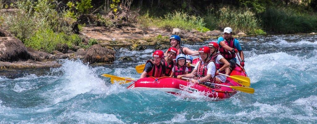Tour de aventura en rafting, barranquismo y tirolesa desde Alanya