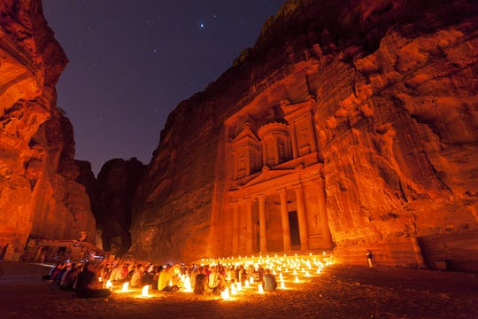 Private Tour of Petra and Petra by Night from Wadi Rum