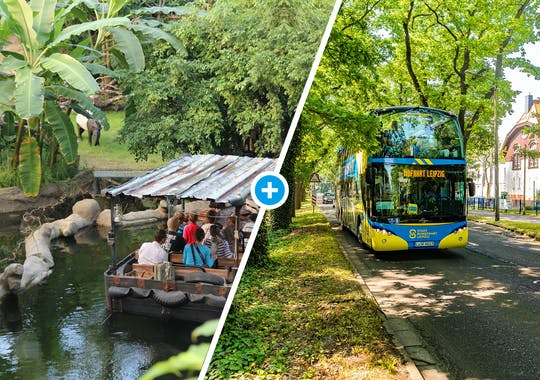 Zoo Leipzig und Hop-On-Hop-Off-Busrundfahrt