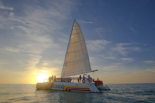 Catamaran sunset sail with champagne