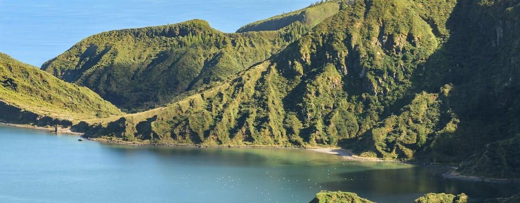 Randonnée d'une demi-journée à Lagoa do Fogo