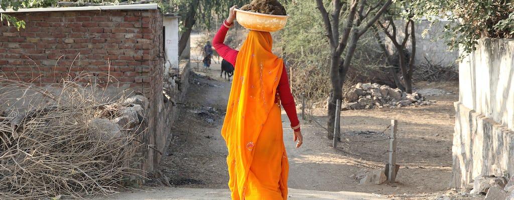 Passeio pela vila de Jaipur com experiência da fazenda à mesa