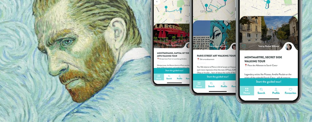 Best of Artists in Paris, 3 audioguided tours on your smartphone