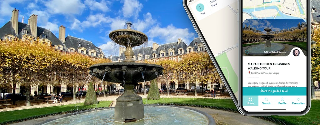 Le Marais hidden treasures tour with guide on your smartphone