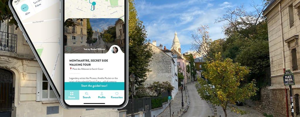 Wycieczka w dzielnicy Montmartre z przewodnikiem na smartfonie