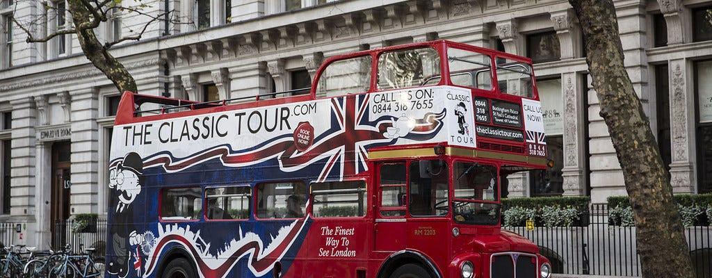 Klasyczna wycieczka po Londynie zabytkowym autobusem