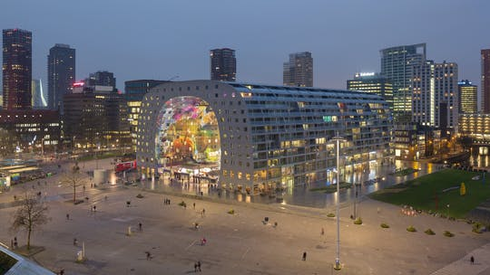 Tour Markthal y visita a la azotea en el rascacielos más antiguo de Rotterdam