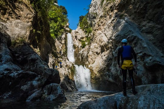 Extreme canyoning on the river Cetina