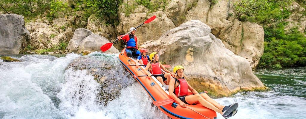 Extreme rafting tour on Cetina