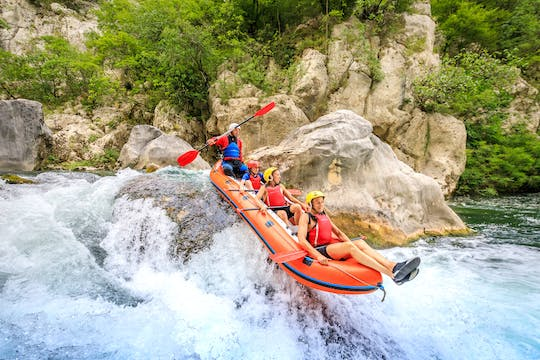 Extreme rafting tour on Cetina
