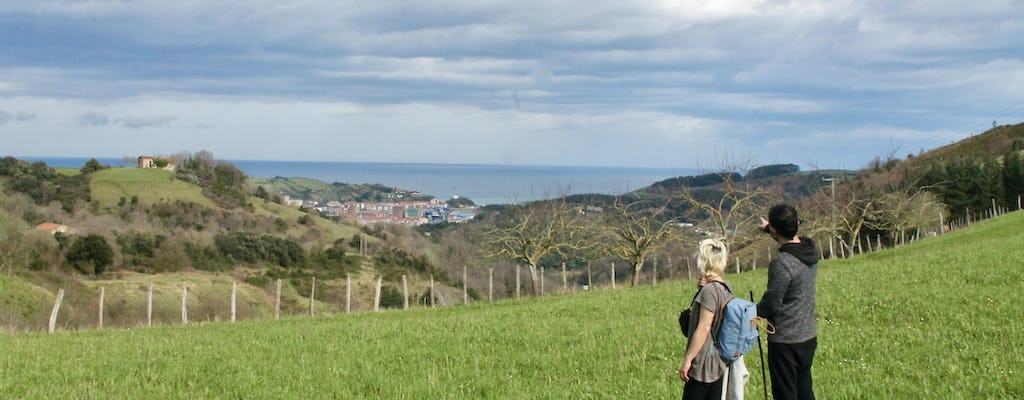 Rural historical walk through the Basque Country with a cider house visit