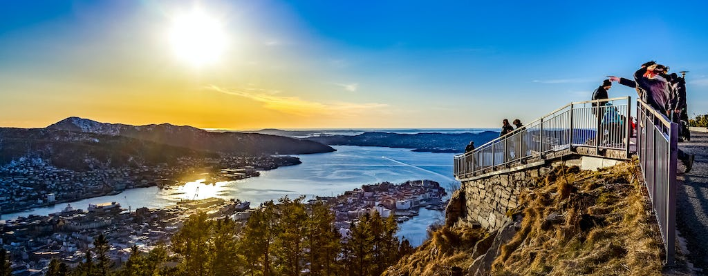 On top of Bergen hike with a mountain guide