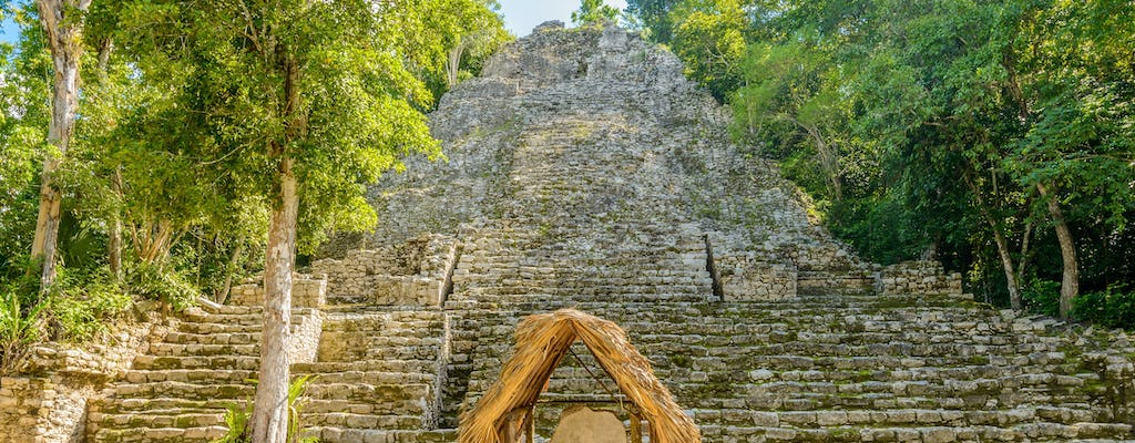 4x1 full-day tour: Tulum, Coba, Cenotes and Playa del Carmen