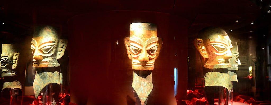 Privétour van een hele dag door reuzenpanda's en mysterieuze Sanxingdui-ruïnes