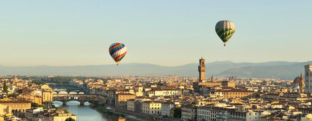 Hot air balloon ride over Florence
