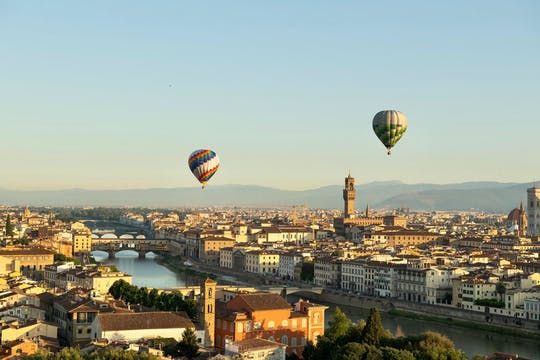 Hot air balloon ride over Florence