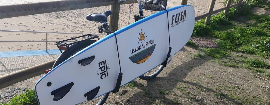 Bike surfboard and wetsuit rental in Carcavelos
