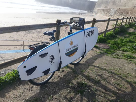 Bike surfboard and wetsuit rental in Carcavelos