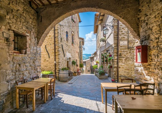 Bevagna and Montefalco day-trip with oil and wine tasting