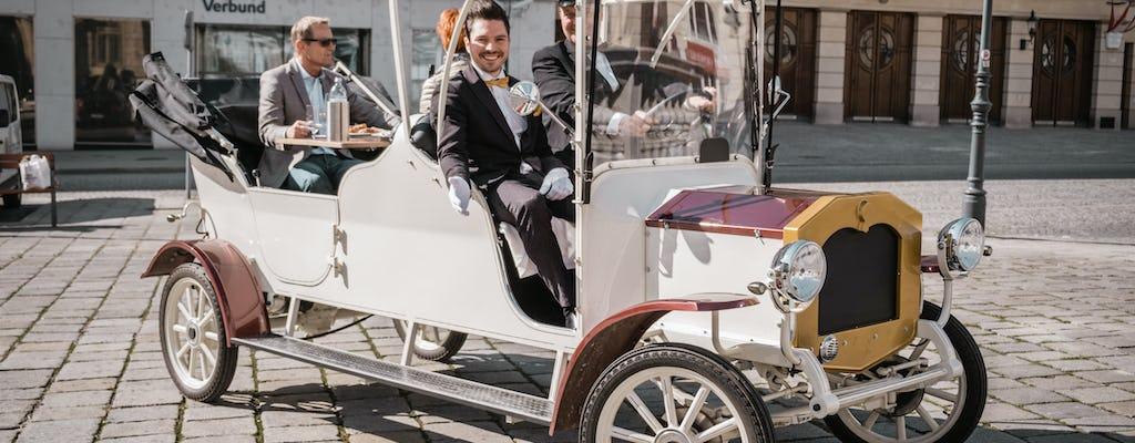 Lśniące zwiedzanie Wiednia w klasycznym samochodzie elektrycznym