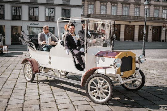 Vienna sparkling sightseeing in a classic electric car