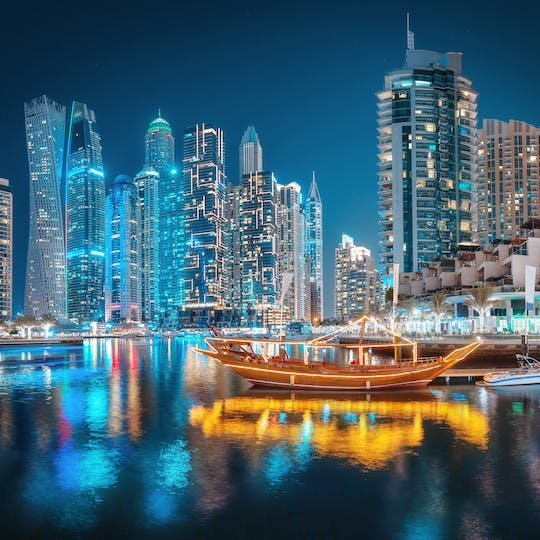 Sightseeing combo Dubai Frame and Dhow Cruise dinner
