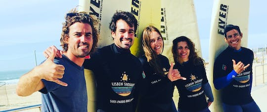 5-day surf lessons package in Carcavelos