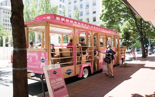 Pink Trolley stadstour door Portland