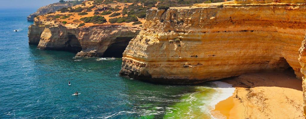 Passeio de barco e jipe no Algarve com prova de vinhos e tapas
