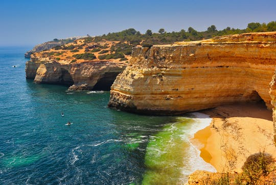 Algarve's boat and jeep tour with wine tasting and tapas