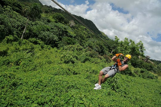 Zip lines & El Limon Waterfall Tour