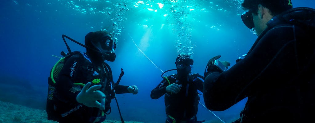 Double Dive with Equipment in Majorca