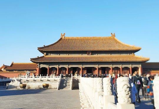 Beijing Private Tour van Tiananmen Square, Forbidden City en Mutianyu Great Wall