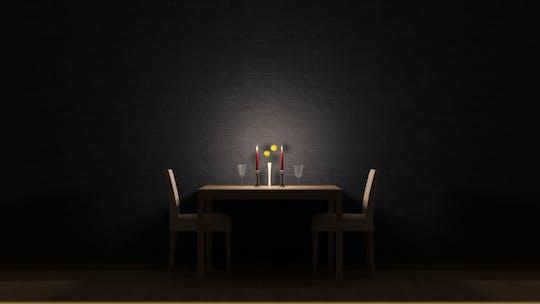 Abendessen im Dunklen