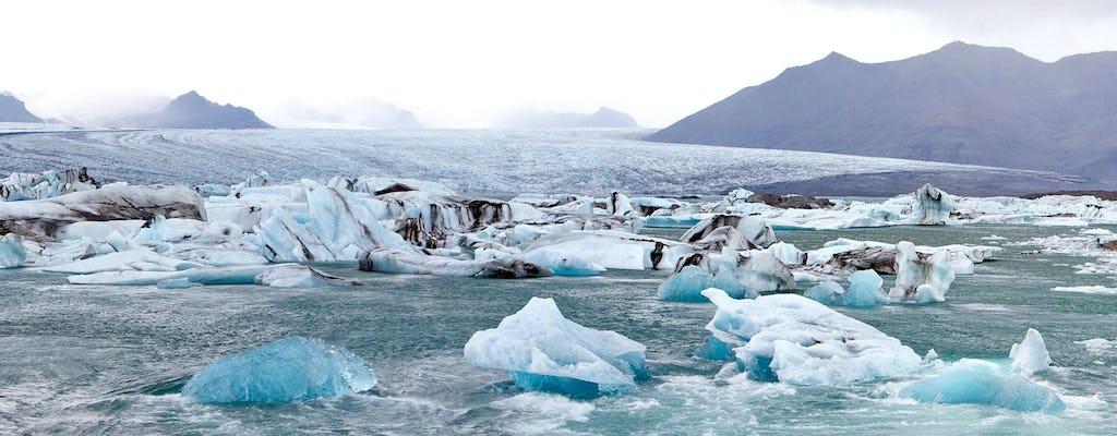 Jökulsárlón glacial lagoon and Diamond Beach tour