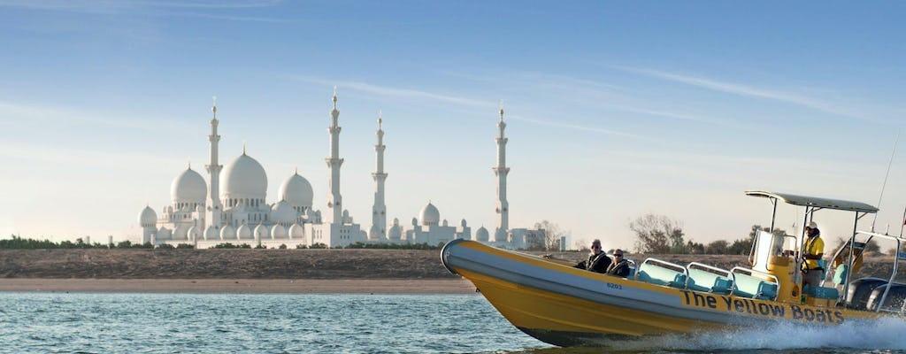 Excursion en bateau de 60 minutes à Abu Dhabi sur la Corniche, l'Emirates Palace et l'île de Lulu