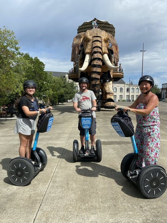 Nantes's highlights self-balancing scooter tour