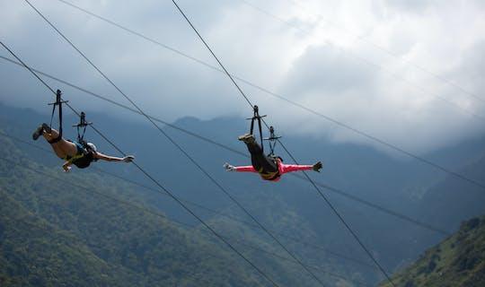 Tour zipline del ponte tibetano più alto da Quito
