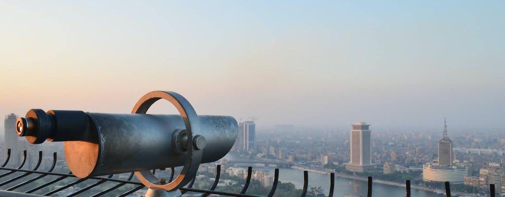 Meio dia Cairo vindo de cima e Felucca no Nilo