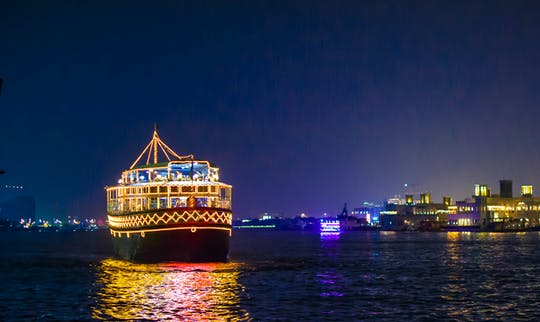 Dhow boat dinner cruise on Dubai Creek