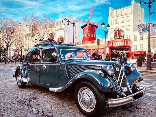 Tour guiado por Paris de dia em carro francês antigo